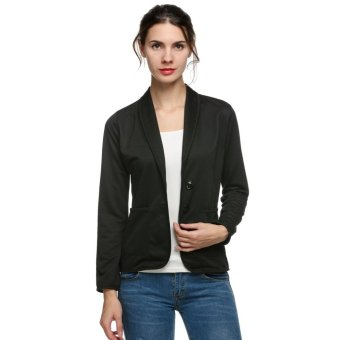 Harga MG Blazer Spring Slim Design Short Blazer (Black) - intl