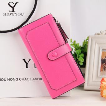 Baellerry New Arrival Fashion 2017 Wallet Long Multifunction (Rose Red) Price Philippines