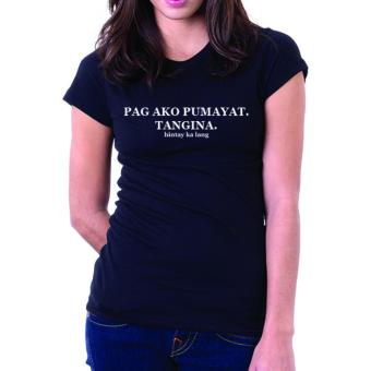 Negativitee Womens Pag Ako Pumayat Shirt (Black) Price Philippines