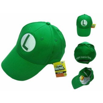 Harga Fashion Super Mario Bros Cotton Baseball Hat Anime Cosplay Mario Cap Green - intl