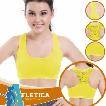 Atletica Fitness Seamless Active Sports Bra (Yellow) Price Philippines