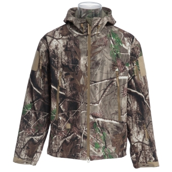 ESDY Men Outdoor Hunting Camping Waterproof Coat Soft Shell Camouflage Jacket Hoodie (SIZE:2XL) - intl Price Philippines
