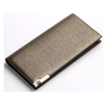 Baellery Brand Metallic Gold Long Slim Business Leather Wallet Price Philippines