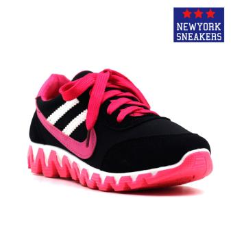 New York Sneakers Alea Rubber Shoes(BLACK/PINK) Price Philippines