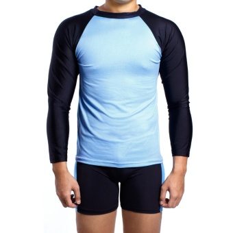 Island Paradise Rash Guard for Men (Blue) Price Philippines