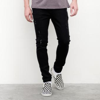 Harga LOYAL Black Distress Jeans