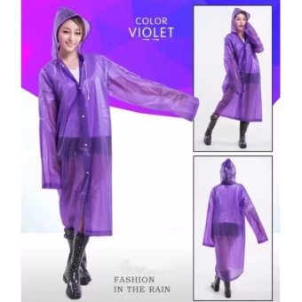 Harga Raincoat Color Women and Men General Fashion Waterproof(Violet)