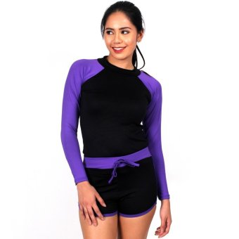 Island Paradise Rash Guard for Women (Violet) Price Philippines