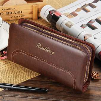 Baellerry Business Clutch Double Zipper Wallet Color:Brown (Intl) Price Philippines
