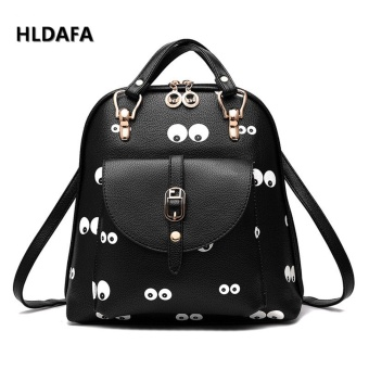 Harga New Tide Female Shoulder Bags New Student Fashion Print Cartoon Cute Backpacks - intl