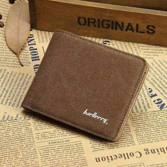 Baellerry Men's Casual Bifold Canvas Wallet Color:Brown (Intl) Price Philippines