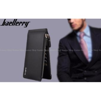 Baellerry Men Fashion Elegant Leather Long Double Zipper Wallet Black Price Philippines