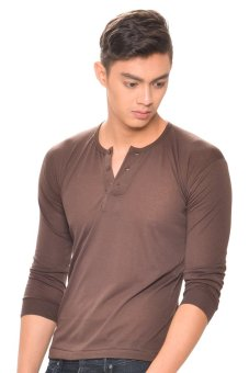 Tex-Cock Long Sleeves Camisa de Chino (Choco Brown) Price Philippines