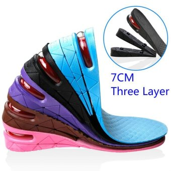 ORIEN Height Increasing Shoe Insoles Pvc 7cm Three Layer Balck - intl Price Philippines