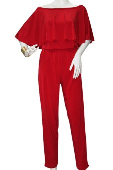 Harga Marian Off Shoulder Jumpsuit (Red)