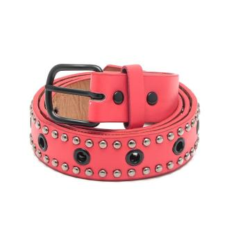 Glamorosa Hot Chick Multi Holes Leather Belt (Red) Price Philippines
