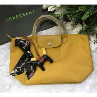 Harga LC Le Pliage Neo Medium short handle Free Twilly & Charm Original (MUSTARD YELLOW) Made in France SHORT HANDLE