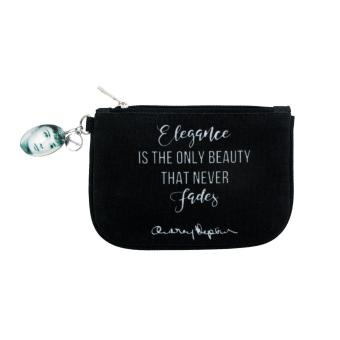 A'postrophe Elegance Is The Only Beauty Audrey Coin Purse (Black) Price Philippines