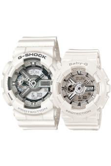 Casio G-Shock and Baby-G Couple White Resin Strap Watch GA-110C-7A & BA-110-7A3 Price Philippines