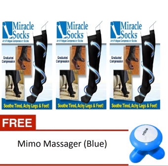 Harga Miracle Socks Set of 3 With Free Mimo Massager (Blue)