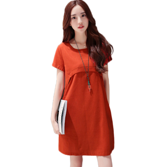 Pregnant woman Dress linen cool loose style Price Philippines