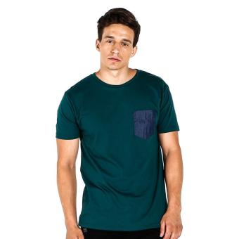Penshoppe Semi Fit Tee With Pocket Detail (Dark Green) Price Philippines
