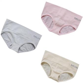 Munafie Wide Garter Panty (Pink/Gray/Beige) Set of 3 Price Philippines