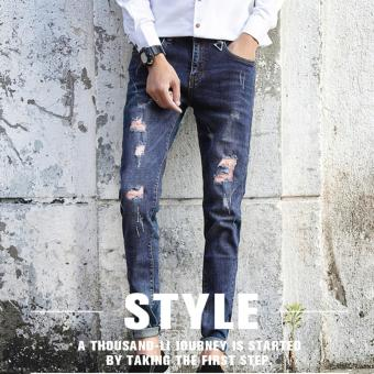 Harga Men's Old Fashioned Tattered Jeans