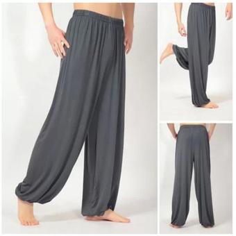 C236 Fashion Lady's Solid Leisure Modal Women's Dark Grey Sports Bloomers Tai Chi Pants - intl Price Philippines