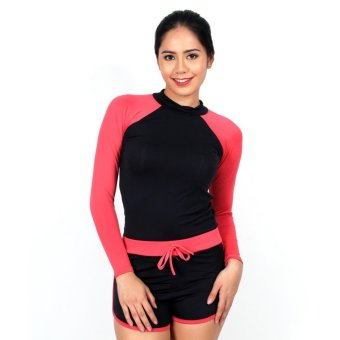 Island Paradise Rash Guard for Women (Salmon Pink) Price Philippines