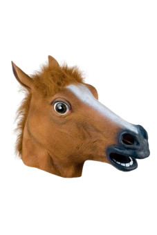 Horse Head Mask Latex Animal Costume Prop Brown Price Philippines
