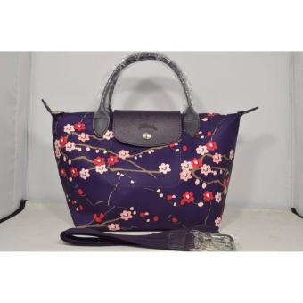 Harga LC LE PLIAGE NEO FANTAISIE SAKURA SMALL BILBERRY SHORT HANDLE LONGCHAMP