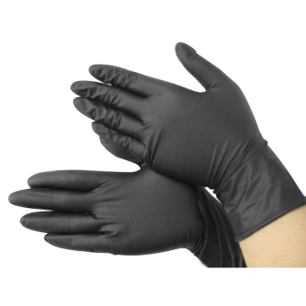Harga Black Nitrile Disposable Cool Gloves Power Free X100 - Tattoo - Mechanic New - Intl