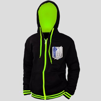 Anime Attack On Titan Survey Corps Unisex Cosplay Hoodie Outdoor Jacket (Neon Green/ Black) Price Philippines