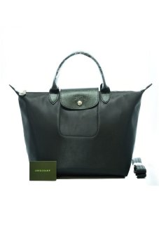 Harga Longchamp Le Pliage Neo Medium Short-handle (Black)