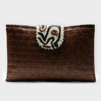 Tropiko by Kultura Big Woven Bamboo Clutch Price Philippines