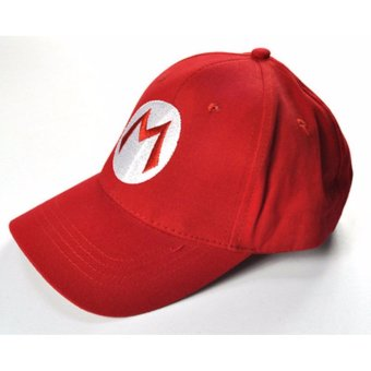 Harga Fashion Super Mario Bros Cotton Baseball Hat Anime Cosplay Mario Cap Red - intl