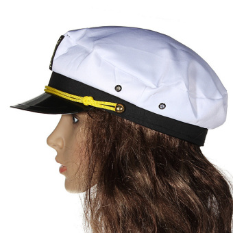 Harga Yacht Captain Marine Skipper Sailor Navy Nautical Hat Cap Fancy Dress Costume