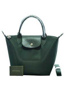 Harga Longchamp Le Pliage Neo Small Short-Handle Bag (Moss Green)