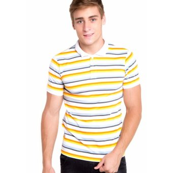 Harga Newyork Army Bengal Stripes Men's Polo Shirt - Yellow / Orange,Mint / Navy