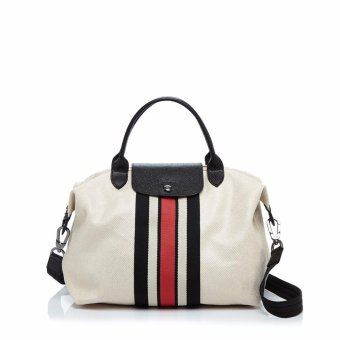 Limited Edition Ruban Longchamp Medium Neo Tote Bag (White Strip) Price Philippines