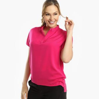 SM Woman Career High-Low Blouse (Fuchsia) Price Philippines