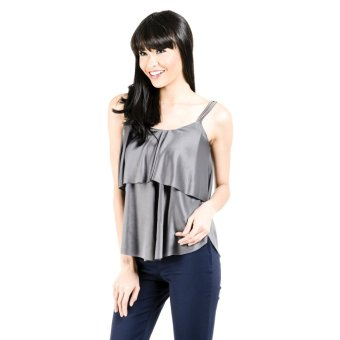 Jasmin Collection Fashion Haus Lena Spaghetti 7 Top (Grey) Price Philippines