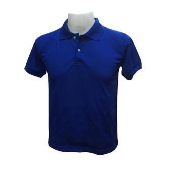 Harga JEVANA Plain Royal Blue Polo Shirt