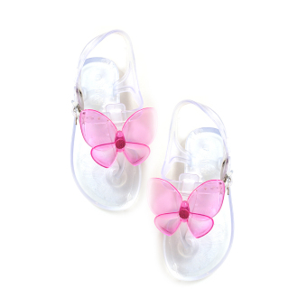 Jelly Nelly Sandals Kids (Clear with Pink Butterfly) Price Philippines