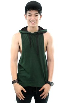 Harga BLKSHP Dark Style Dropped Armholes with Contrast Hood (Forest/Black)