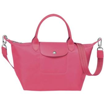 Longchamp Le Pliage Neo Small Short Handle Nylon With Sling - ROSE PINK Price Philippines