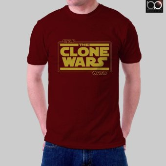 Harga Star Wars: The Clone Wars T-Shirt for Men (Maroon)