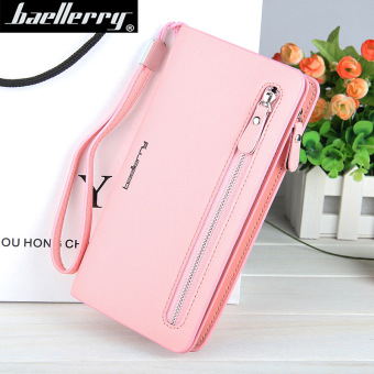 BYT Baellery Long Women Leather Zipper Wallet 201502 ( Pink ) - Intl Price Philippines