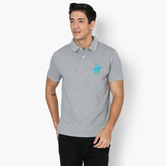 Beverly Hills Polo Club Collar Pop Mens Polo Shirt (Grey) Price Philippines